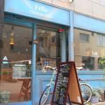 Felice 庫奇納咖啡館搶眼牆上的藍色午餐