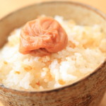 Morning wake up with rice and sour pickled plump of kiln Cook