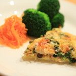 Frozen pastry with milk and eggs make easy quiche