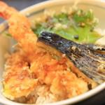 静波海岸入口の手打ち蕎麦と鰻の和食屋「食事処 峰」のランチセット