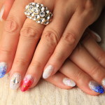 Summer nail Acryl sculpture with nail glitter open Atelier La fille