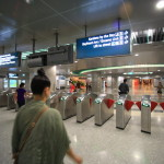 Boarded a comfortable transportation means MRT from Changi International Airport to Singapore city