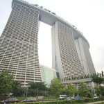 Very popular and now! Large complex landmark Marina Bay sands