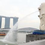シンガポールを代表するマーライオン像が立つ広場マーライオン・パーク
