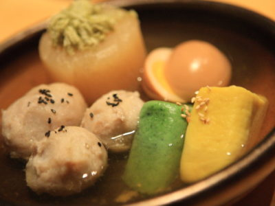 -Furuno saloon can enjoy Japanese dishes prepared mainly with Oden's adult and dennbaa