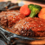 "High quality protein sources make the body ""crisp charcoal Restaurant' hamburger steak"