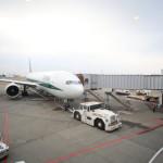 成田空港よりアリタリア航空のフライトにてローマで乗り継ぎ