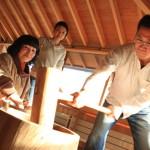 一級建築士「長谷守保建築計画」の長谷邸にて「餅つき会2013」からの忘年会