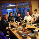 At the Yoshida House Yoshida House & traditional pour plain House new year 2014 Shotokan Association Member