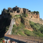"Rural scenery of the town in the sky is called the dying city ""Civita di vagnoreggio'"