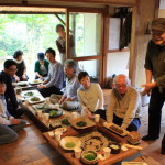 At Toyokawa coastal Wildflower cooking Vol.5 in Yutani House by Mr. Shintaro ajioka eating wild plants!