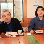 "Soba ""buckwheat noodle house oomori"" with artist ajioka Shintaro, and dinner"