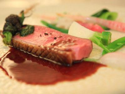 """意大利""""Brillante鈴木""""只有吧台的薄紗道菜的晚餐"""