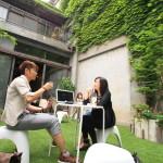 公園カフェというコンセプトを持つ「PARK/ING パーキング」でコーヒータイム