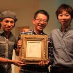 """Wine dining hideaway """"La cachette ' in Yamauchi, Kiyoshi painting unveiling at level 2"""