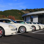 Maserati 3200 GT touring Gifu County above to view autumn leaves about lunch Boomerang photo