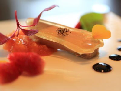 """The chef Omakase course at """"THE DINING"""" in the """"di Oriental Terrace Torizen"""""""