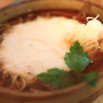 I got in Yue zenzai with new menu Soba House oomori Soba and enjoy