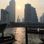 在濱江露臺早上太陽俯瞰曼谷半島酒店優雅早餐