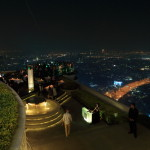 Night view of Bangkok's 247 metres above ground 'dome' golden dome restaurant & bar