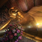 Sleeping in the temple Wat Pho Bangkok's oldest of Shakyamuni Buddha tried to visit your appearance and lying