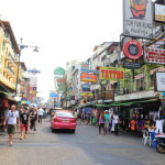 Downtown Bangkok Khao San Road backpackers gathering