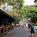 Popular street called lamb try load back Khao San Road and spend some quiet time