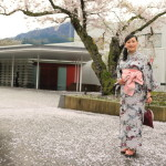 "And exploring the Park decorates ""garaku"" seasons in yukata pleasantness and including foot bath"