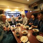 「割烹しんはま」アーティスト味岡伸太郎氏と日本酒を酌み交わしながら懇親会