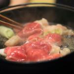 「旬の料理 大内」秋の味覚の王様である松茸を静岡そだちと共にすき焼きで食す