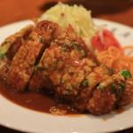 豐盛的西方 h.松! 漬和炸豬排餐廳