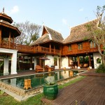 """Dhara Dhevi"" of traditional Thailand North of Chiang Mai 2-storey villa is private New York"