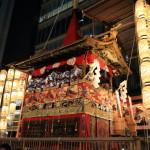 日本剃刀戟的晚上我們去到祗園祭巡行的開頭的三個大節日之一