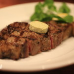 Enjoy the newly opened BLUE BRICK STEAK HOUSE original aged steak bar