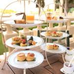 露臺優雅的下午茶在曼谷半島酒店大堂