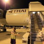 「スワンナプーム国際空港」よりタイ国際航空で「中部国際空港 セントレア」へ帰国