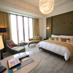 """Mandarin Oriental Taipei"" top floor Club Deluxe Room boasts a breadth of Taiwan's largest"