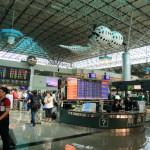 """是通往台灣的""""台灣桃園國際機場""""到達檢查到第二終端!"""