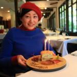 """湯河原法國美食""""HERLEQUIN BIS""""它是由一個滿是竹林幸福的生日午餐的味道包圍"""