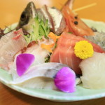 """Japanese restaurant KOBAYASHI "" Set meal of fresh seafood is popular in Japanese restaurant operated by ISOYA Dried Fish Shop"