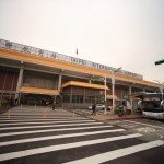 "Rapid smart check-in from "" Taipei Songshan Airport "" to "" Taoyuan International Airport "" in high-speed bus direct service!"