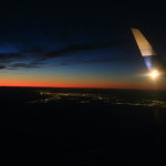 """回日本!在與美麗的夜景為""""富士山靜岡機場""""沿著中國航空航空公司!"""