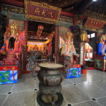 """One of the most historic """"West Port District Keian Palace"""" temple worshiping the gods, including the heavenly Virgin in Tainan"""