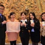 「シャトードシン高雄」施設紹介とGMに日本伝統工芸品の松井機業「しけ絹」贈呈!