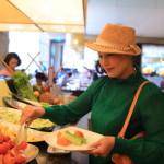 「シルクスプレイス宜蘭」の「ミックスグルメ」にて多国籍料理のブッフェスタイル朝食
