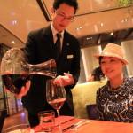 「マンダリン オリエンタル 台北」の「ベンコット」専属ソムリエセレクトワインでディナー