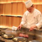「台北マリオットホテル」の「Mark's Teppanyaki」にてディナーミーティング