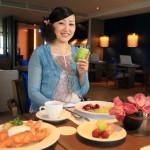 「シルクスプレイス台南」の「シルクスラウンジ」にてセミオーダースタイルの優雅な朝食