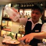 花蓮花蓮花理想地球通過皇冠廣場酒店池畔雞尾酒。