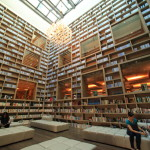 "Check-in at the lobby adjacent to the ""Earth liquor store The Gaia Hotel"" a fantastic library"